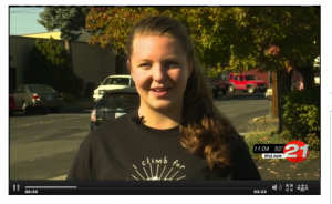 Bella Wiener is climbing Mount Kilimanjaro in June 2015 to raise $50,000 for SHE. Watch her latest interview.