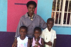 Sandrine and her children