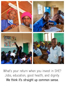 Return on investment when you give to SHE