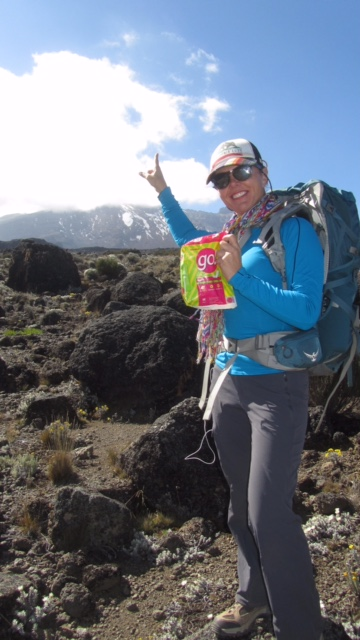 Eva Johnston Kilimanjaro Climb with go pads July 2015 .jpg