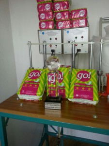 3S Award with go! pads at Ngoma production site