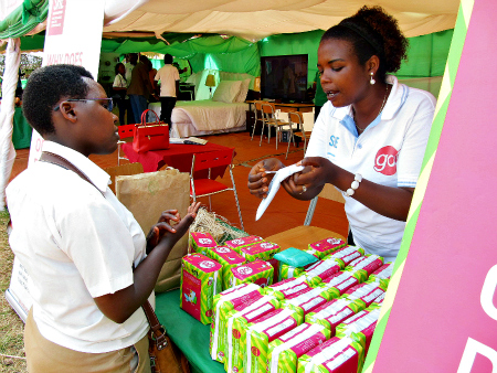 4. Our go! pads were a hit at the Eastern Province Expo. Over 8,600 packs of go! pads have been sold directly to girls, schools, and wholesale customers such as the Peace Corps in 2015.