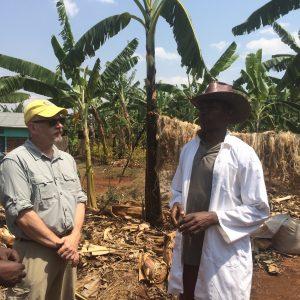 Dr. Michael Moscherosch at Umunezero banana co-op, Rwanda