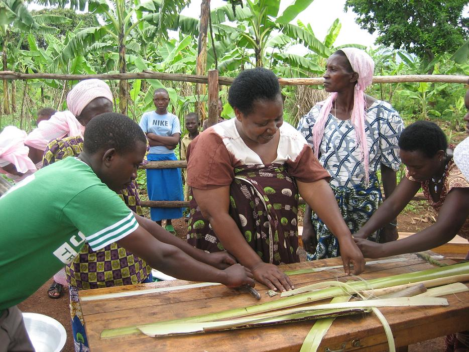 SHE Founder Elizabeth Scharpf and 3 MIT interns went to Rwanda and found banana fiber to be the winning fiber to use in menstrual pads!