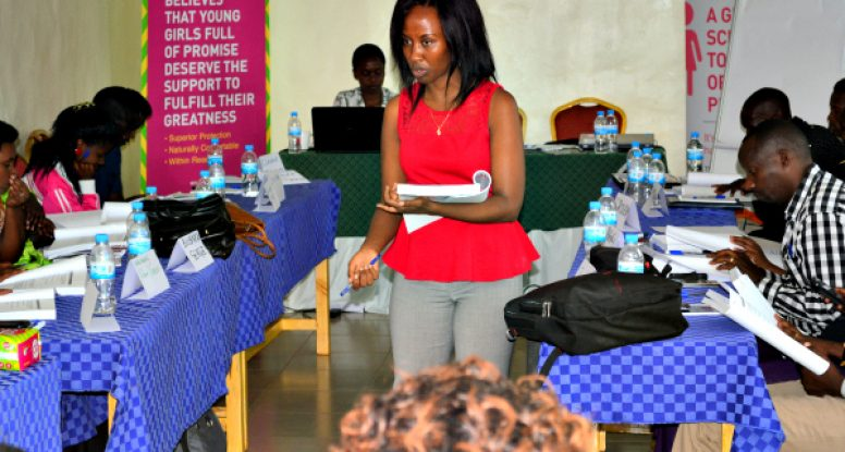 Health and Hygiene Manager Nadia Hitimana kicked off our initiative to train primary school teachers about menstrual health and hygiene management with 50 teachers from the Eastern District of Rwanda.